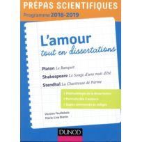 Dunod - thème de français-philosophie en 25 dissertations ; prépas scientifiques édition 2018/2019