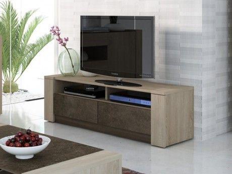 VENTE-UNIQUE - Meuble TV SUMAI - 2 tiroirs & 2 niches - Coloris ...