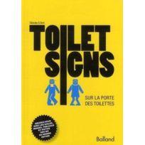 Balland - toilet signs ; sur la porte des toilettes