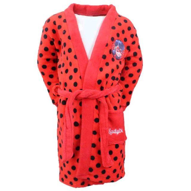 4189f7ab52b30 Marque Generique - Peignoir Miraculous Ladybug 6 ans robe de chambre enfant  rouge