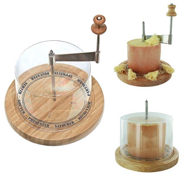 The Concept Factory Racloir a fromage en bois avec cloche