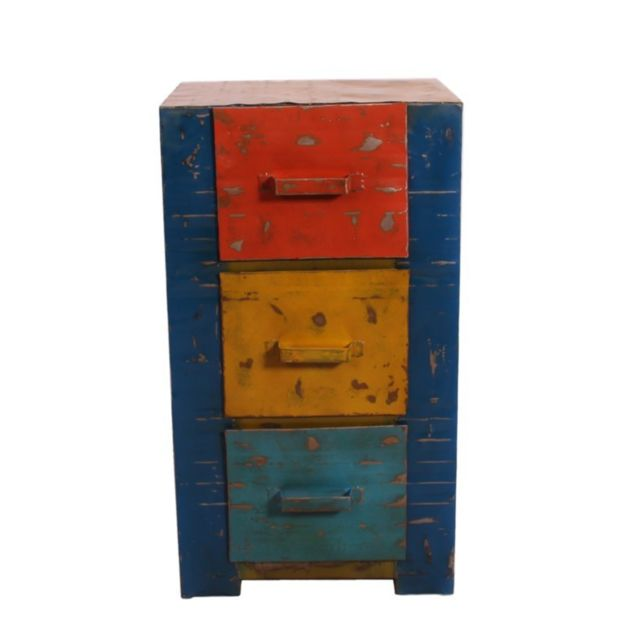 Tousmesmeubles Commode 3 tiroirs - Tank