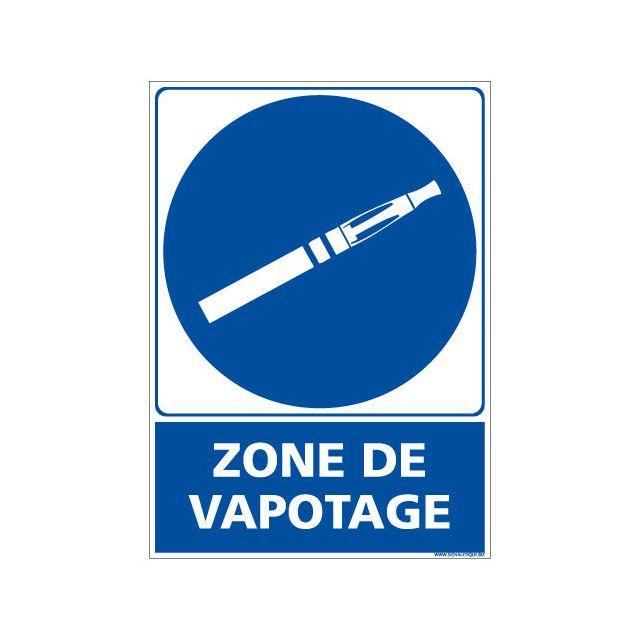Plaque grav/ée autocollante 15x15cm Zone Fumeurs fond alu bross/é