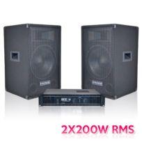 Dune - Pack 2 enceintes + amplificateur stéréo 2x200 Wrms