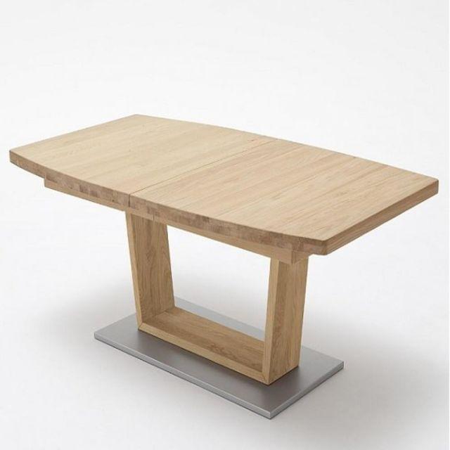 Inside 75 Table repas extensible Catane 180 x 100 cm chêne massif
