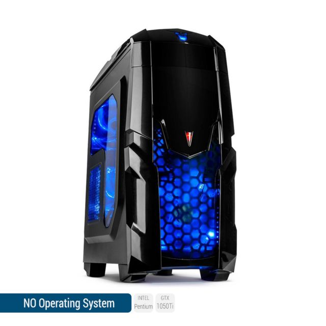 SEDATECH PC Gamer, Intel Pentium, GTX 1050Ti, 500 Go SSD, 2 To HDD, 16Go RAM, sans OS. Ref: UCM6085I4
