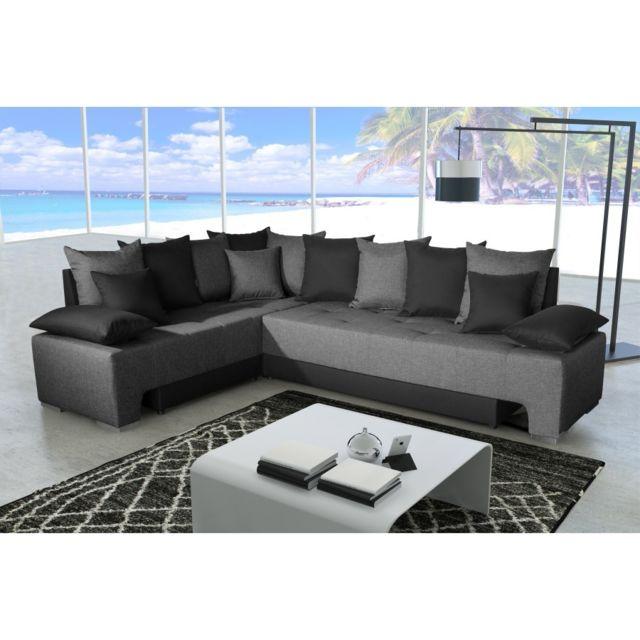 Rocambolesk Canapé Duo plus savana 05 anthracite/sawana 14 noir sofa divan