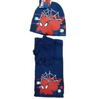 8ef8c696ae0e Marque Generique - Bonnet Echarpe Gant Spiderman Taille 52 enfant Bleu F
