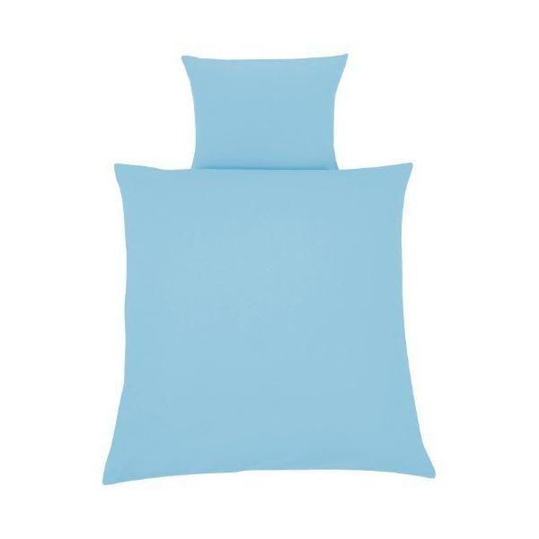 Julius Zollner Julius Zöllner Parure de lit avec housse 80 x 80 cm et taie 35 x 40 cm Bleu