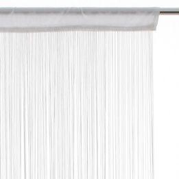 Marque Generique Rideau De Fil 120 X H240 Cm Uni Blanc Pas Cher