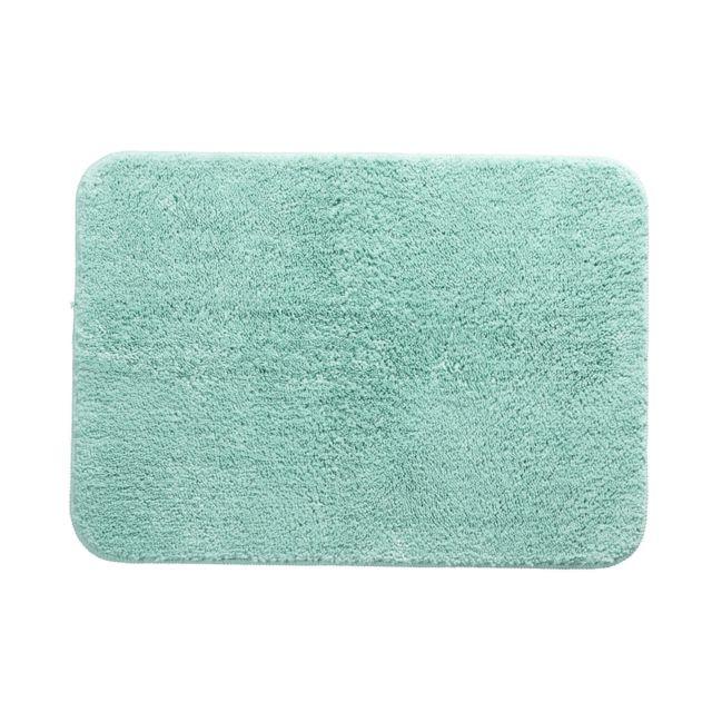 soldes marque generique lot de 2 tapis de bain fantaisie en coton bleu vert pas cher achat. Black Bedroom Furniture Sets. Home Design Ideas