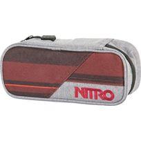 Nitro Snowboards - Nitro Trousse ÉTUI À Crayons - Red Stripes, 20 X 8 X 6 Cm, 1 Litre, Polyester