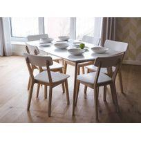 Beliani - Table de cuisine - Table de salle à manger - 150x90 cm - blanc - Santos