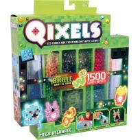 Asmo Kids - Mega recharges Qixels 1500 recharges - 10 couleurs, Brillant dans la nuit