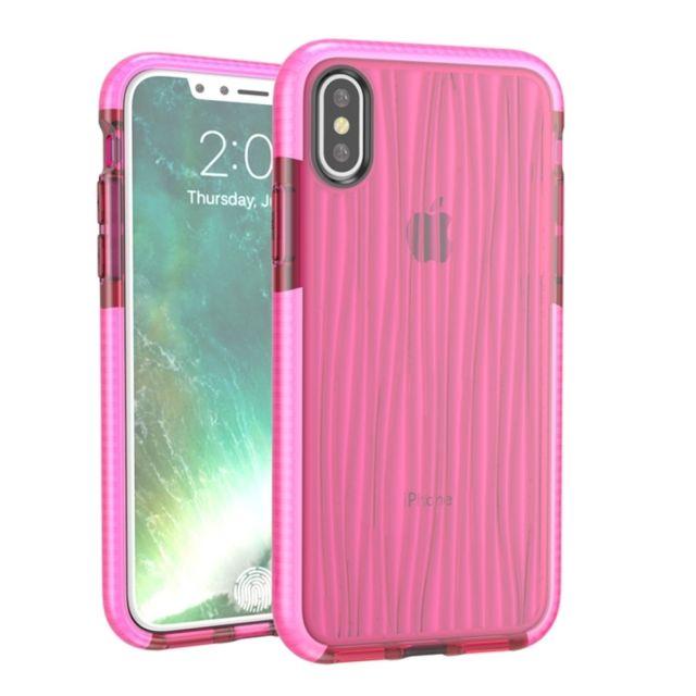 Wewoo - Coque rose pour iPhone X D30 + Tpu Moire Motif Téléphone Étui de  Protection c0379c1f97d