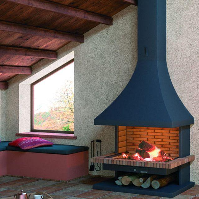 focgrup chemin e ch32 frontale sans porte avec base et foyer r fractaire pas cher achat. Black Bedroom Furniture Sets. Home Design Ideas