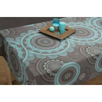 nappe turquoise achat nappe turquoise pas cher rue du commerce. Black Bedroom Furniture Sets. Home Design Ideas