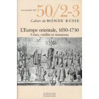 Ehess - cahiers du monde russe et soviétique N.50 ; 2/3 ; entre ancien et nouveau : l'Europe orientale fin Xvie-XVIIIe siècle