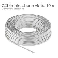 SecuriteGOODdeal - Rallonge cable interphone 4 fils de 10m