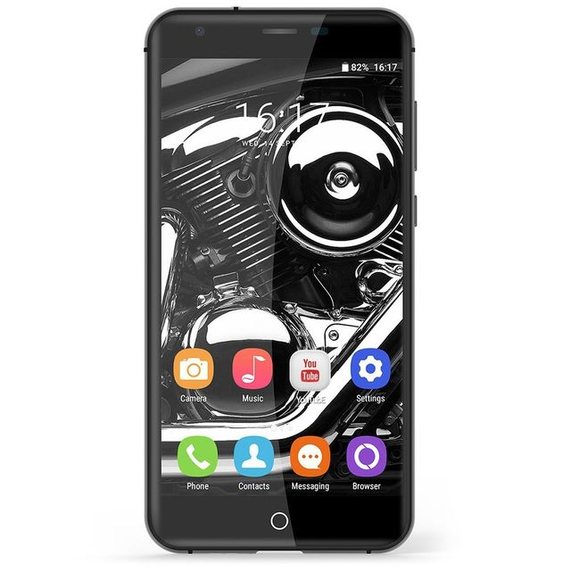 Auto-hightech Smartphone 5 pouces quad core avec empreinte digitale, Android 6.0 et bluetooth
