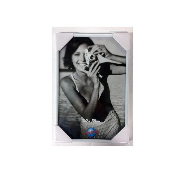 Ariane Cadre photo plastique blanc- 50 75