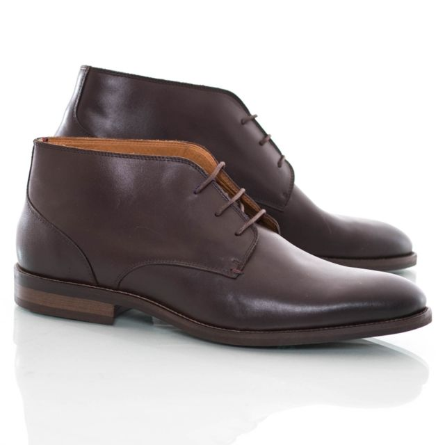 Tommy hilfiger Chaussures montantes cuir marron coffee