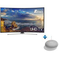Samsung - TV LED 55'' 139 cm UE55MU6220 + Enceinte intelligente - Google Home mini