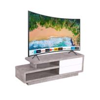 mendler mca rack tv cosima table basse de t l vision avec tiroirs poli fin blanc. Black Bedroom Furniture Sets. Home Design Ideas