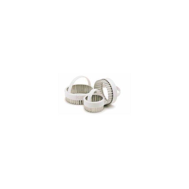 Kitchen Craft Emporte-pièces ronds cannelés x3