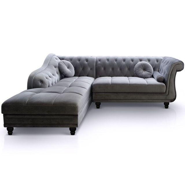 paris prix canap chesterfield velours brighton 240cm argent angle gauche 0cm x 0cm x 0cm. Black Bedroom Furniture Sets. Home Design Ideas