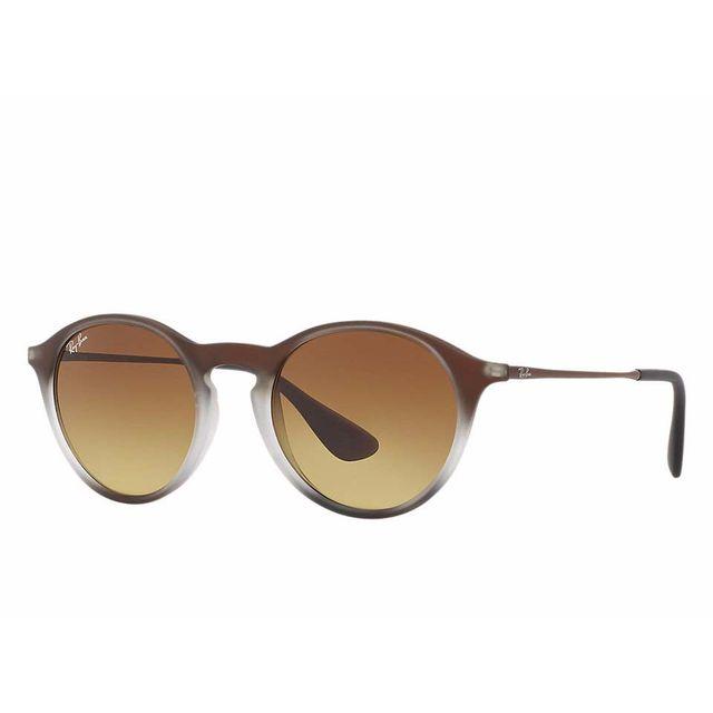 8487c3cd346 Ray-Ban - Lunette de soleil Youngster Rb 4243 622413 Noir irisé brun - pas  cher Achat   Vente Lunettes Tendance - RueDuCommerce