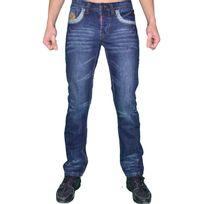 Us Marshall - Jean - Homme - M6009 - Bleu Foncé Traces Design