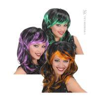Sancto - Perruque halloween mèchée vert/orange ou violette