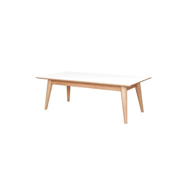 Table basse rectangulaire chêne plateau en formica 120 cm - Lulea