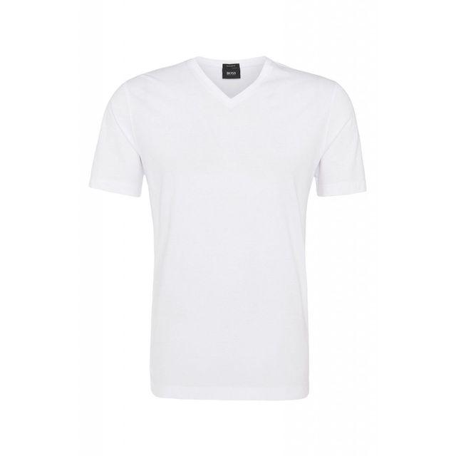 7e52b1d427c Hugo Boss - Lot 2 Tee Shirt blanc - pas cher Achat   Vente Polo homme -  RueDuCommerce