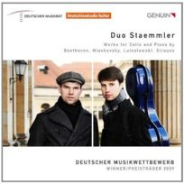 Genuin Musikproduktion - Duo Staemmler. Oeuvres pour violoncelle et piano