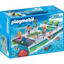Playmobil - 9233 Sport et Action - Catamaran à fond de verre avec moteur submersible