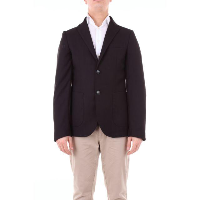 Gazzarrini Homme Gai59GBLACK Noir Coton Blazer