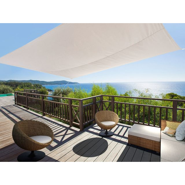 ideanature voile d 39 ombrage rectangulaire 2 45x3 45m en. Black Bedroom Furniture Sets. Home Design Ideas