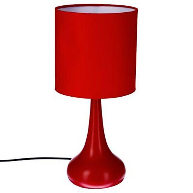 ChevetDéco Tactile De Sensitive Rouge Lampe Touch Design pzUMVqS
