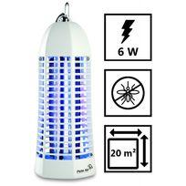 Plein Air - Lampe piege anti moustique Zap6 Blanc laqué - Décharge électrique 1000V - Champ action 20 m2