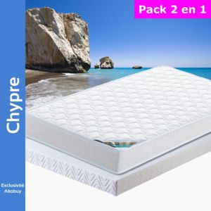 altobuy chypre pack matelas altoflex 90x190 blanc 90cm x 90cm pas cher achat vente. Black Bedroom Furniture Sets. Home Design Ideas