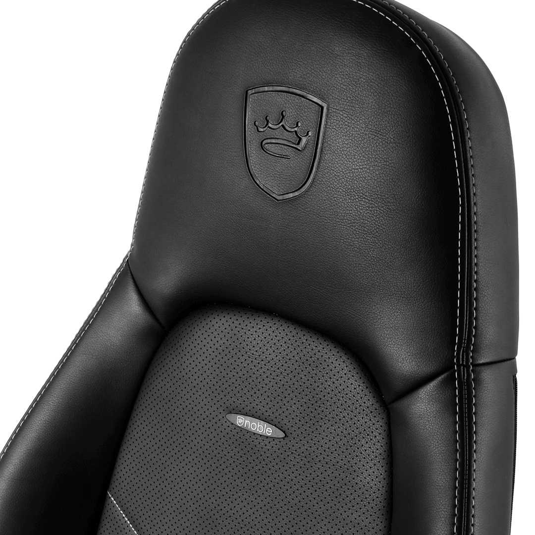 Chaise Gamer Icon Noblechairs Noir/Blanc
