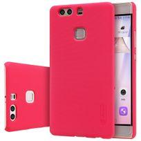 Nillkin - Coque de protection Frosted Shield rouge et film écran pour Huawei P9 Plus