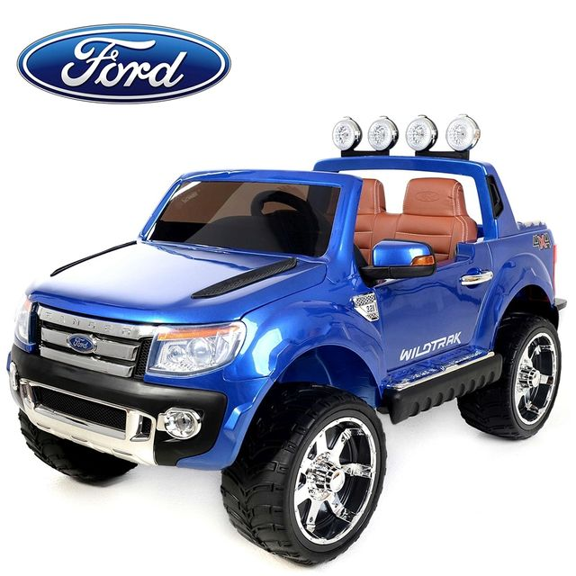 ford voiture lectrique enfant 4x4 ranger 12v 2 places si ge en cuir bleu pas cher. Black Bedroom Furniture Sets. Home Design Ideas