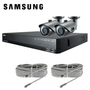 samsung kit videosurveillance 2 cameras ip full hd poe 2mp ir20 metres pas cher achat. Black Bedroom Furniture Sets. Home Design Ideas