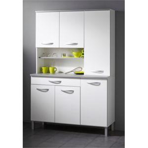 soldes last meubles buffet cuisine poppy blanc pas cher achat vente meubles de cuisine. Black Bedroom Furniture Sets. Home Design Ideas