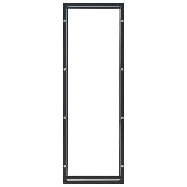 Icaverne - Sacs & paniers à bûches categorie Portant de bois de chauffage Noir 50 x 20 x 150 cm Acier