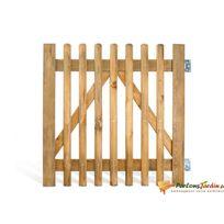 Jardipolys - Portillon en bois lames droites Pyla - L100cm x H100cm