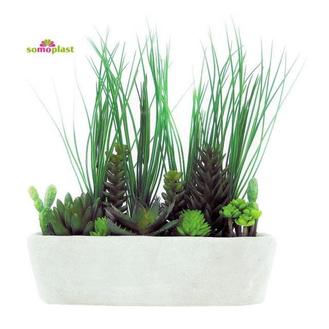 Somoplast Composition De Plantes Vertes Artificielles Jardin De